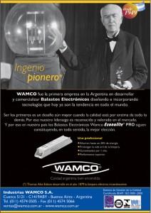 """ESPÍRITU PIONERO, THOMAS ALVA EDISON"" Balastos Electrónicos Wamco, 2006"