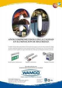 """""""60  AÑOS DE COMPROMISO"""" Iluminación de Emergencia Wamco, 2009"""