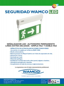 """""""LA CALIDAD WAMCO ES SU MEJOR GARANTÍA"""" Señalizadores Wamco, 2005"""