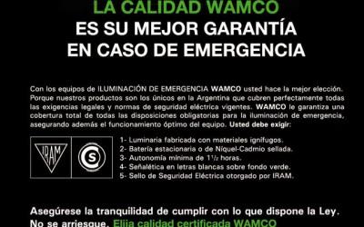 """""""LA CALIDAD WAMCO ES SU MEJOR GARANTÍA"""""""
