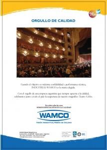 """""""ORGULLO DE CALIDAD"""" Reapertura del Teatro Colón, Buenos Aires, 2010"""