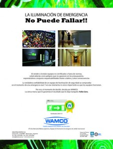 Wamco Emergencia No puede Fallar Señalizador ZALP 50